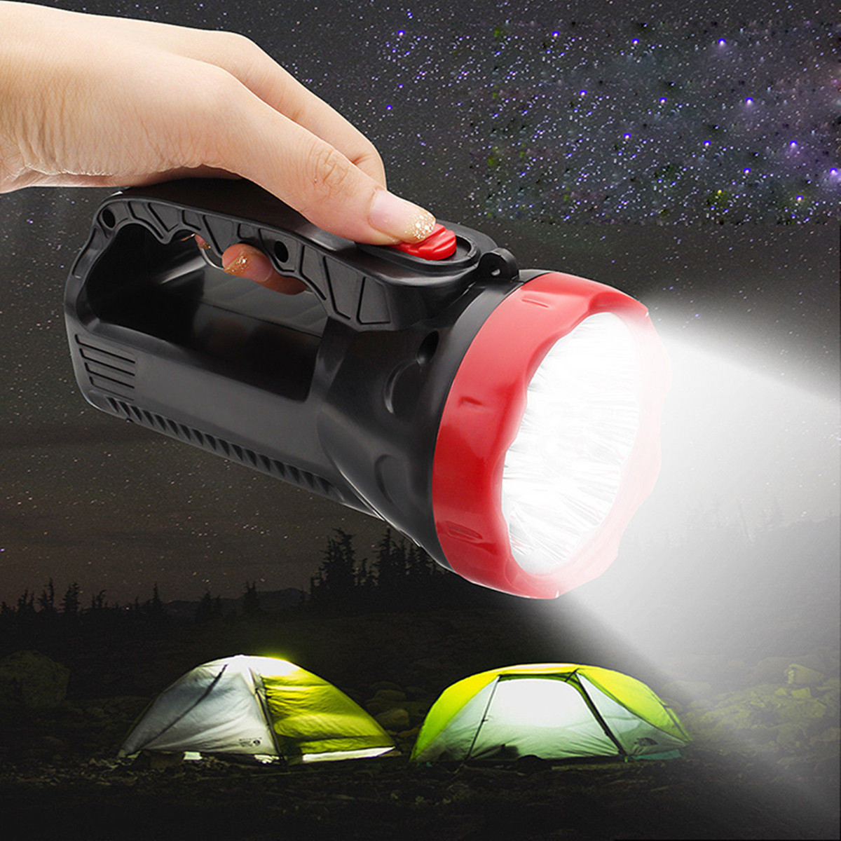 5W 1000mAH Portable Super Bright Rechargeable LED Spotlight Torch LED Flashlight Outdoor Camping
