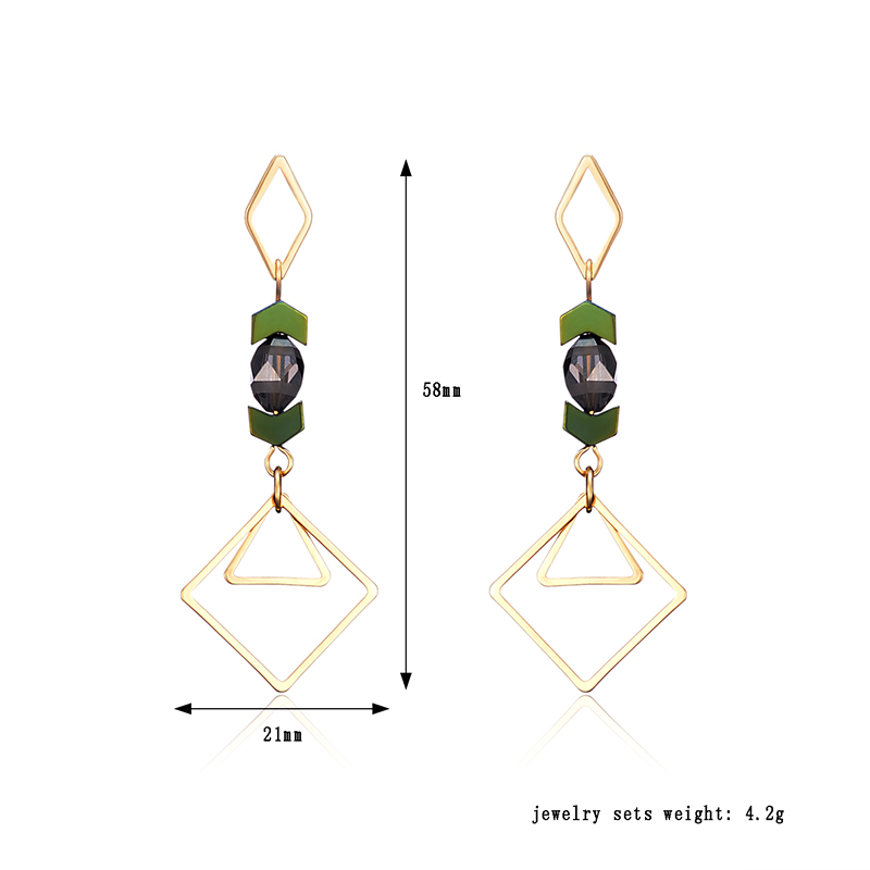 Luxury 18K Gold Plated Geometric Drop Earrings Elegant Ear Stud Best Gift for Women