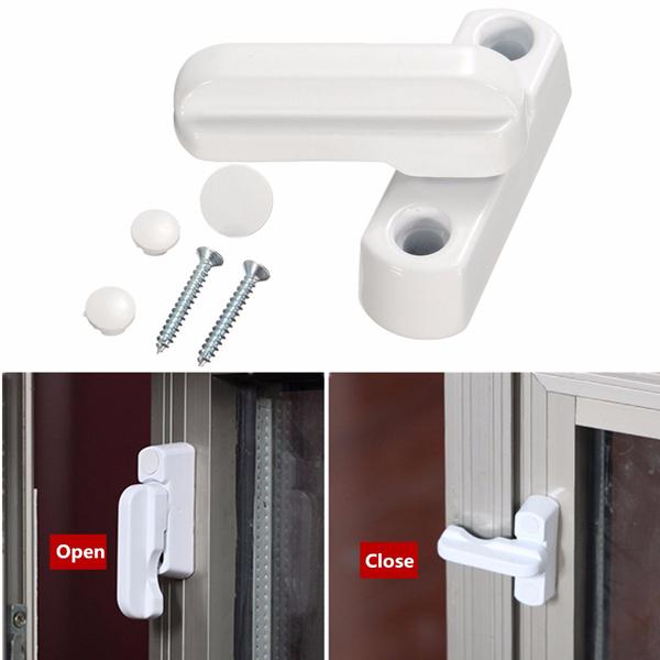 Zinc Alloy UPVC Aluminum Windows Door Sash Jammers Extra Security Swing Lock