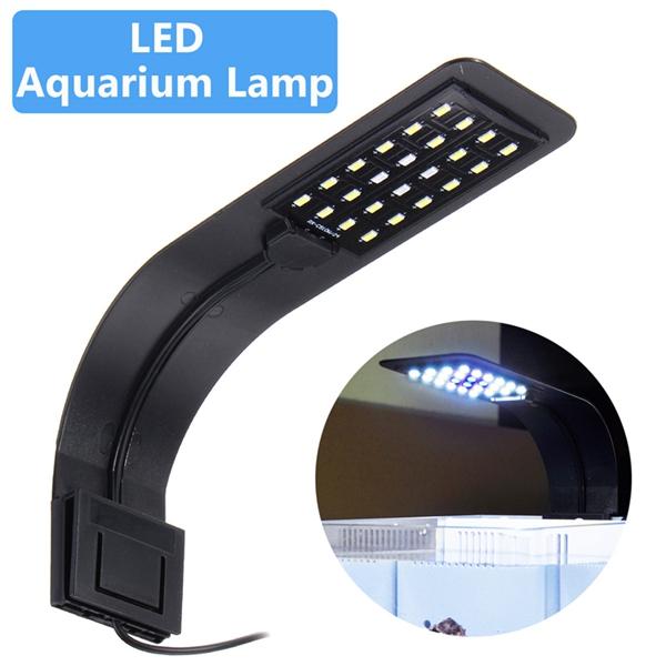 10W 24 LED Aquarium Lamp Fish Tank Water Plant Clip Light AC220V