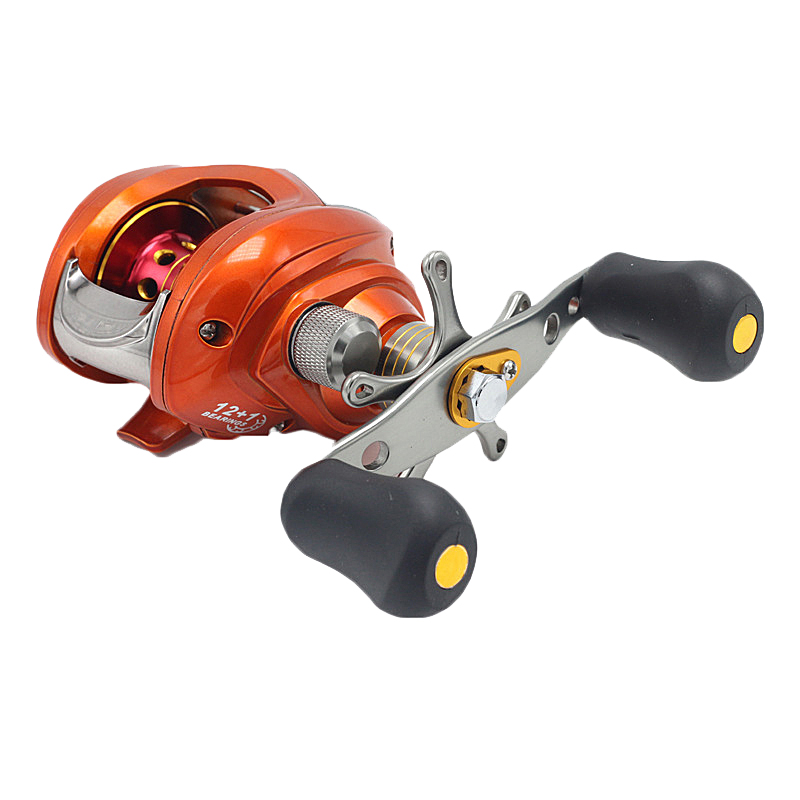 ZANLURE 6.3:1 12+1BB Metal Baitcasting Fishing Reel Lef