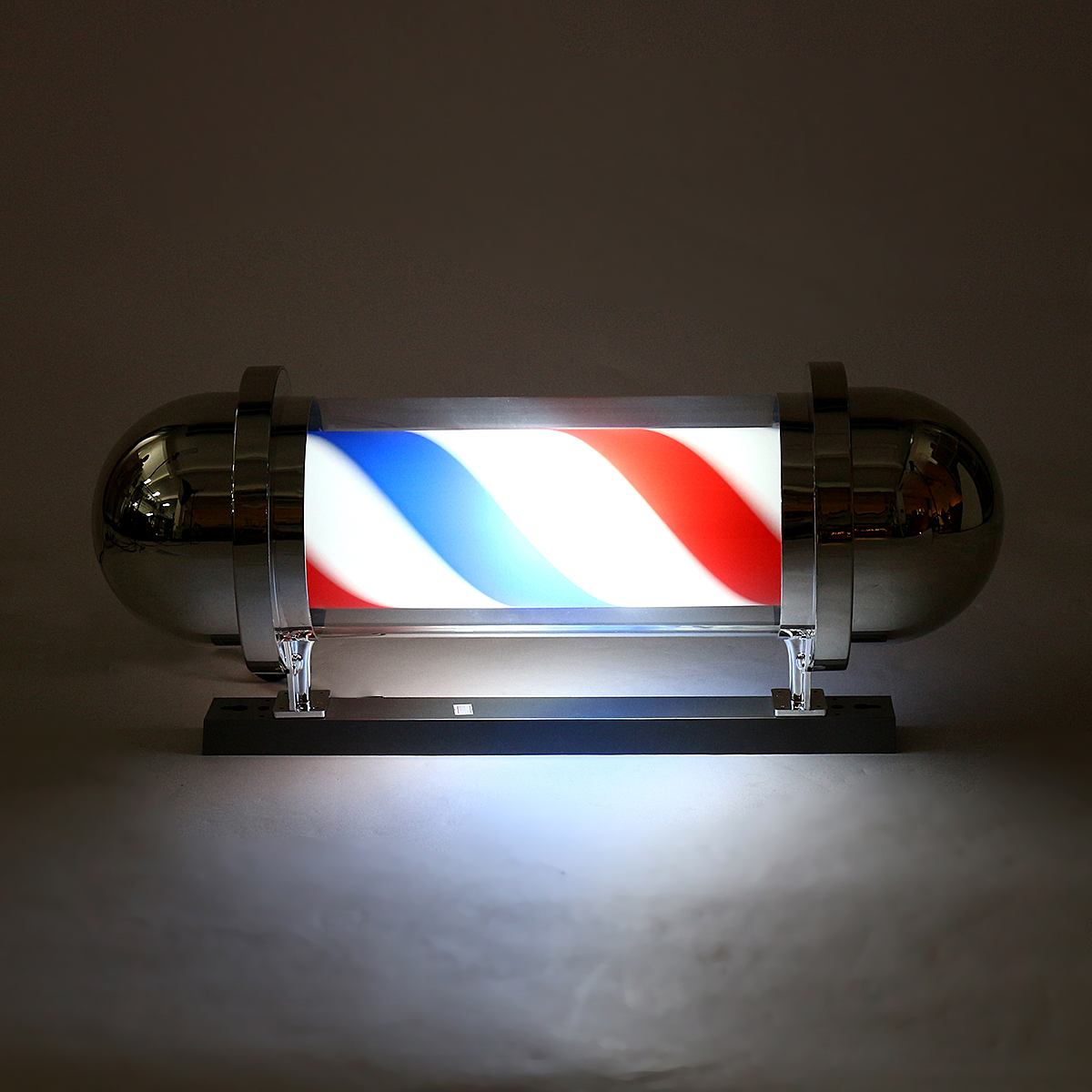 Red Blue LED Barber Shop Sign Hair Salon Lamp