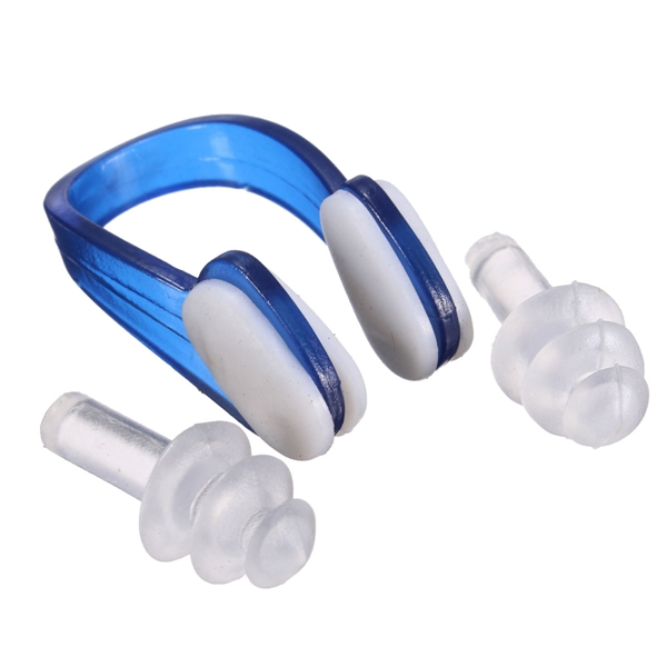 Soft Silicone Swimming Nose Clips 2 Ear Plugs Ear Plugs Diving Sporting Protector Clip