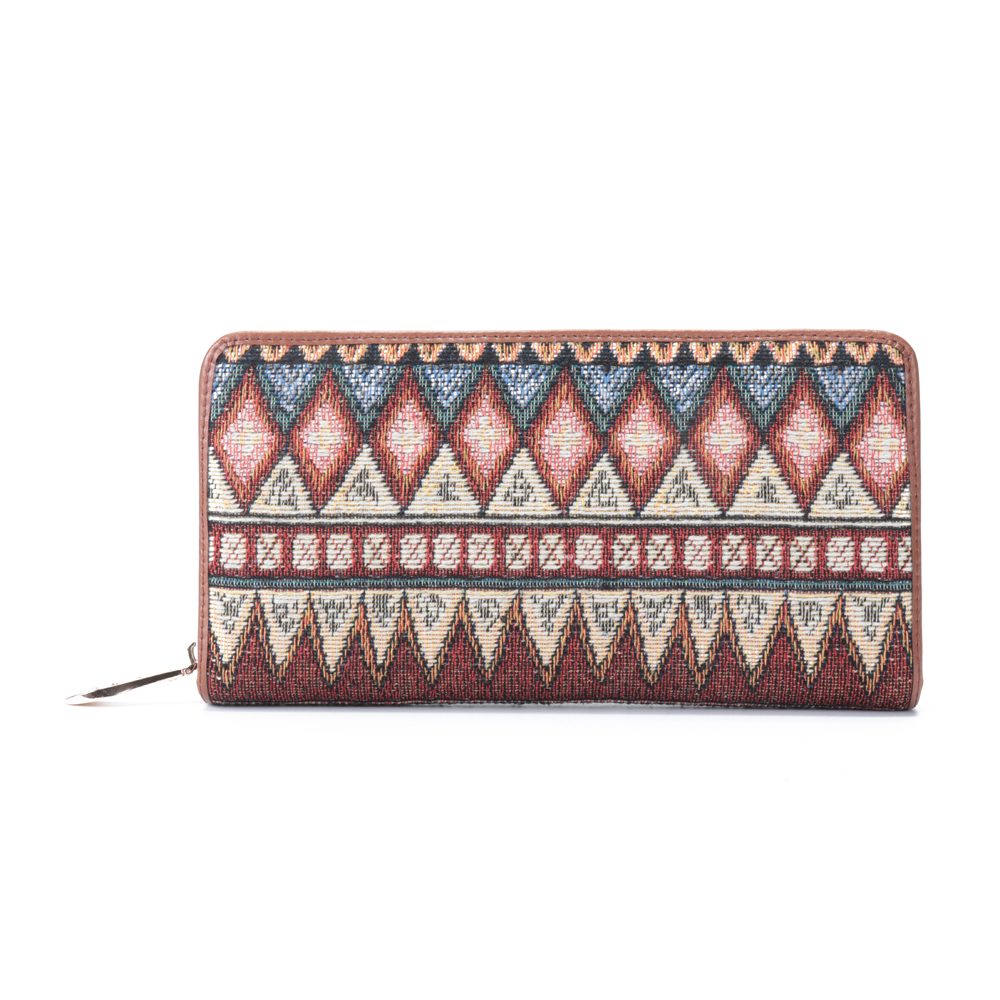 Brenice Women National Canvas Bohemian Style Purse Wallet