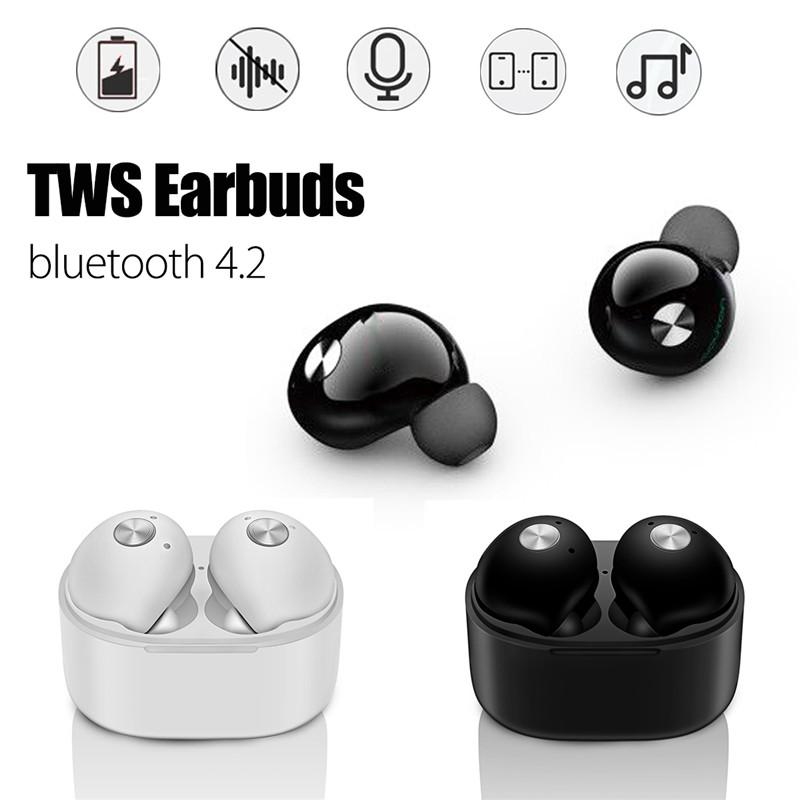 bluetooth 4.2 Wireless TWS In Ear Stereo Bass Earphone Headphone Headset MIC