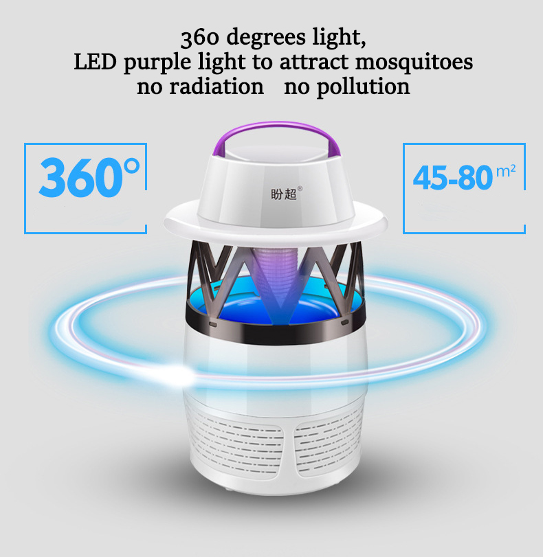 LED USB Mosquito Dispeller Repeller Mosquito Killer Lamp Bulb Electric Bug Insect Zapper Pest Trap Light For Yard Outdoor Camping