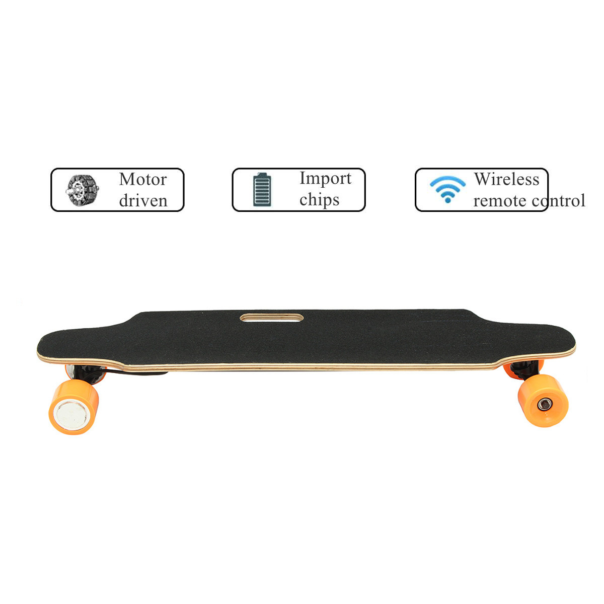 ALFAS 250W 15km/h Electric Skateboard Scooter Remote Control Longboard 7-layer Maple Board Shock Proof Board