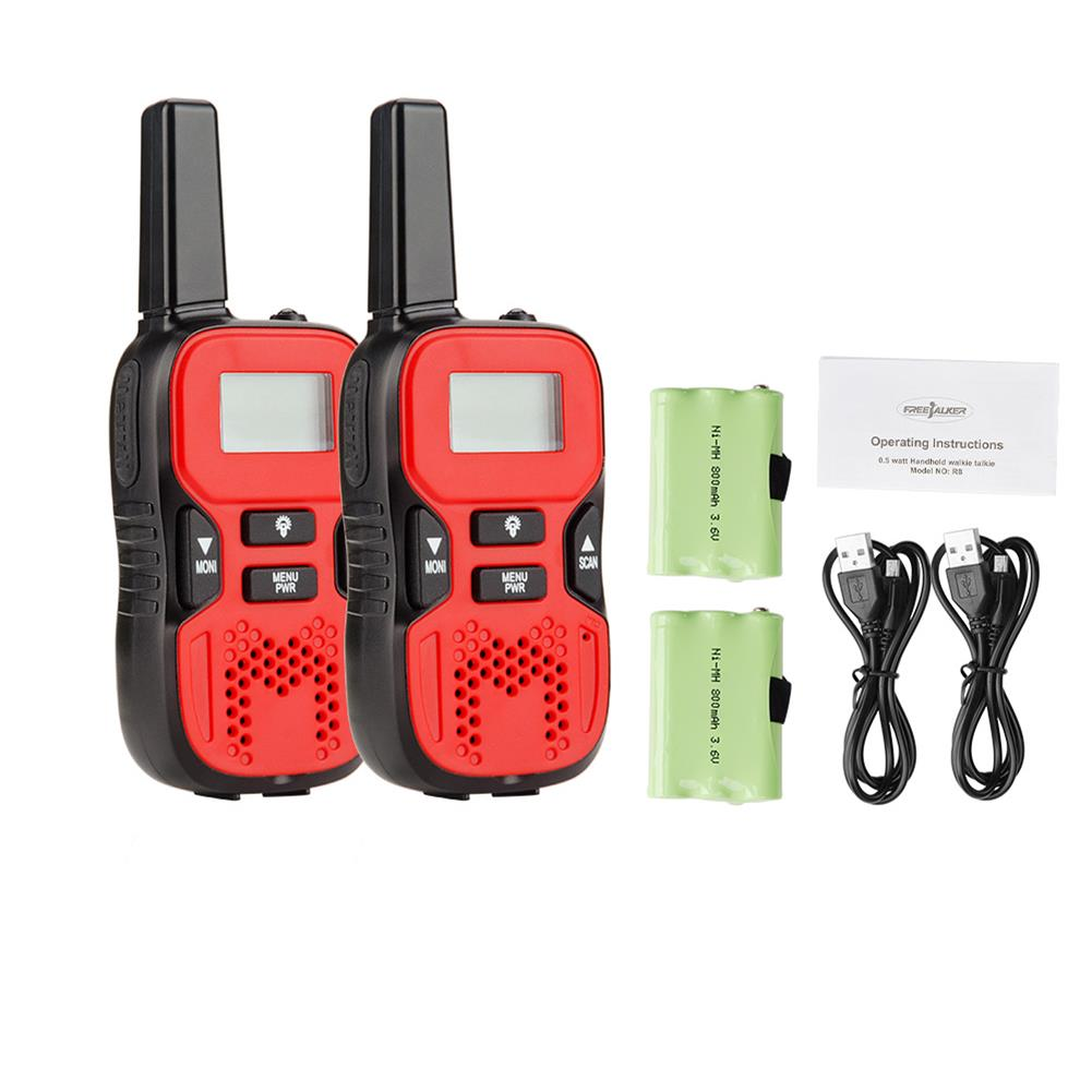 KALOAD R8 2xPortable Mini Kids Walkie Talkies 22 Channe