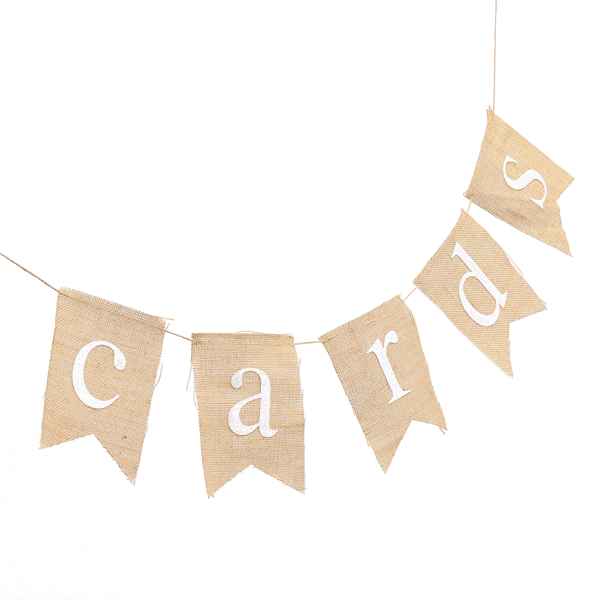 1.8M CARDS Letter Hessian Burlap Fabric Rustic Wedding Banner Bunting Decoration