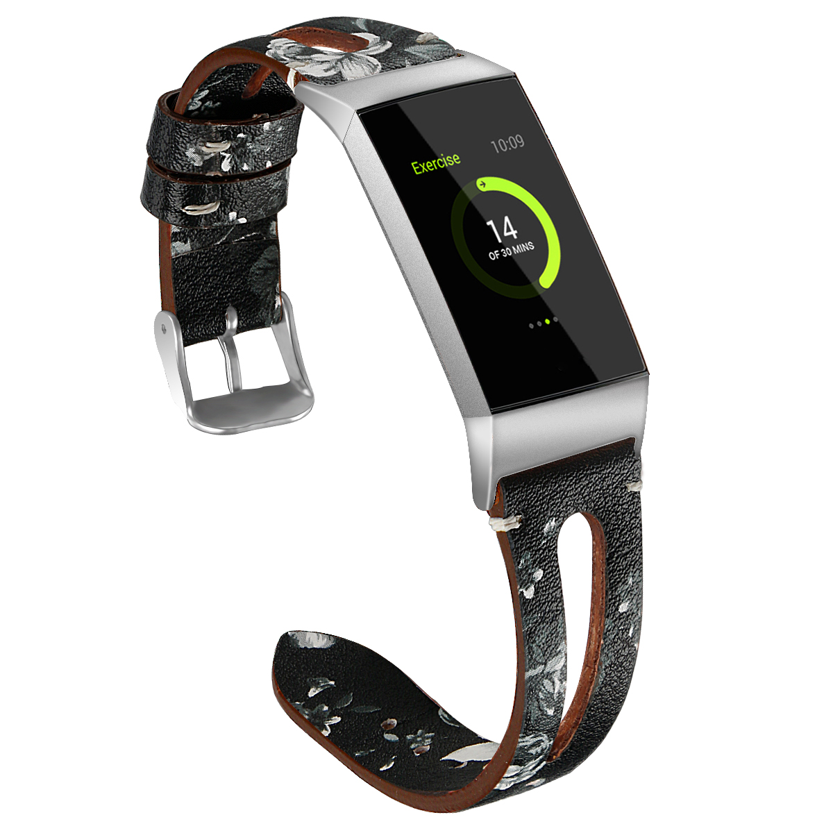 Bakeey Replacement Watch Strap Flower Pattern Watch Band for Fitbit Charge 3 Smart Watch