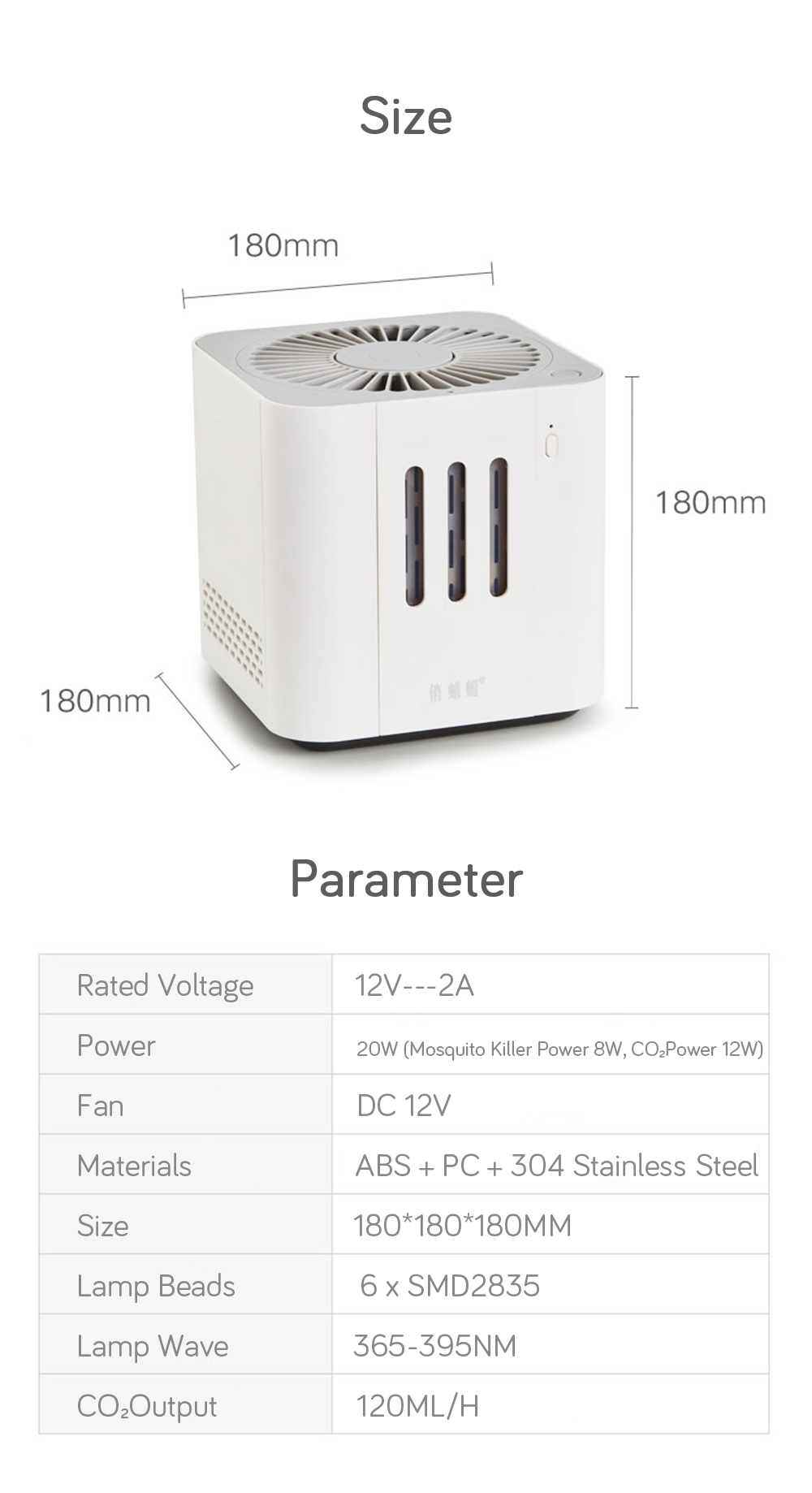 [Xiaomi Youpin] Cokit DYT-08 CO₂ Mosquito Killer Lamp 110V-240V Plug-in Insect Killer Lamp Auto Suction Mosquito Dispeller
