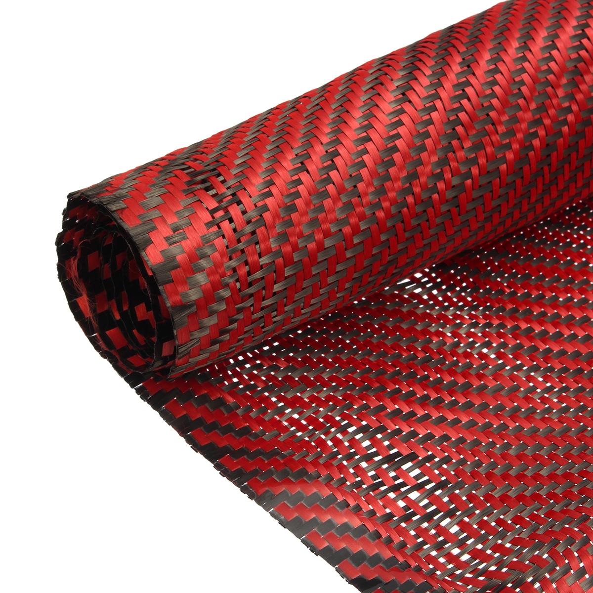Carbon Fiber Cloth Black Red Fabric Twill Weave Panel Sheet 200gsm