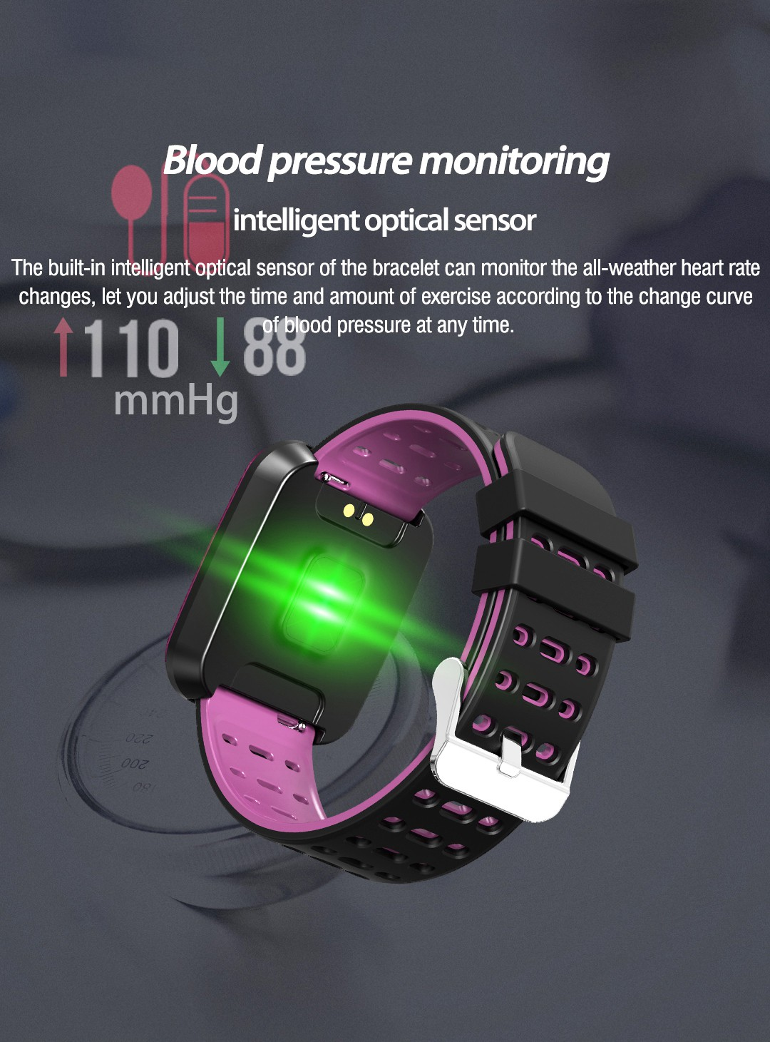 Bakeey N99 1.3 IPS Big Screen Custom Interface HR Blood Pressure Caller ID Display Smart Watch