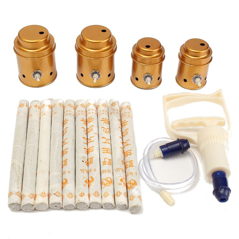 High Effectiveness 4 Cups Slimming Vacuum Therapy Massage Acupuncture Moxibustion