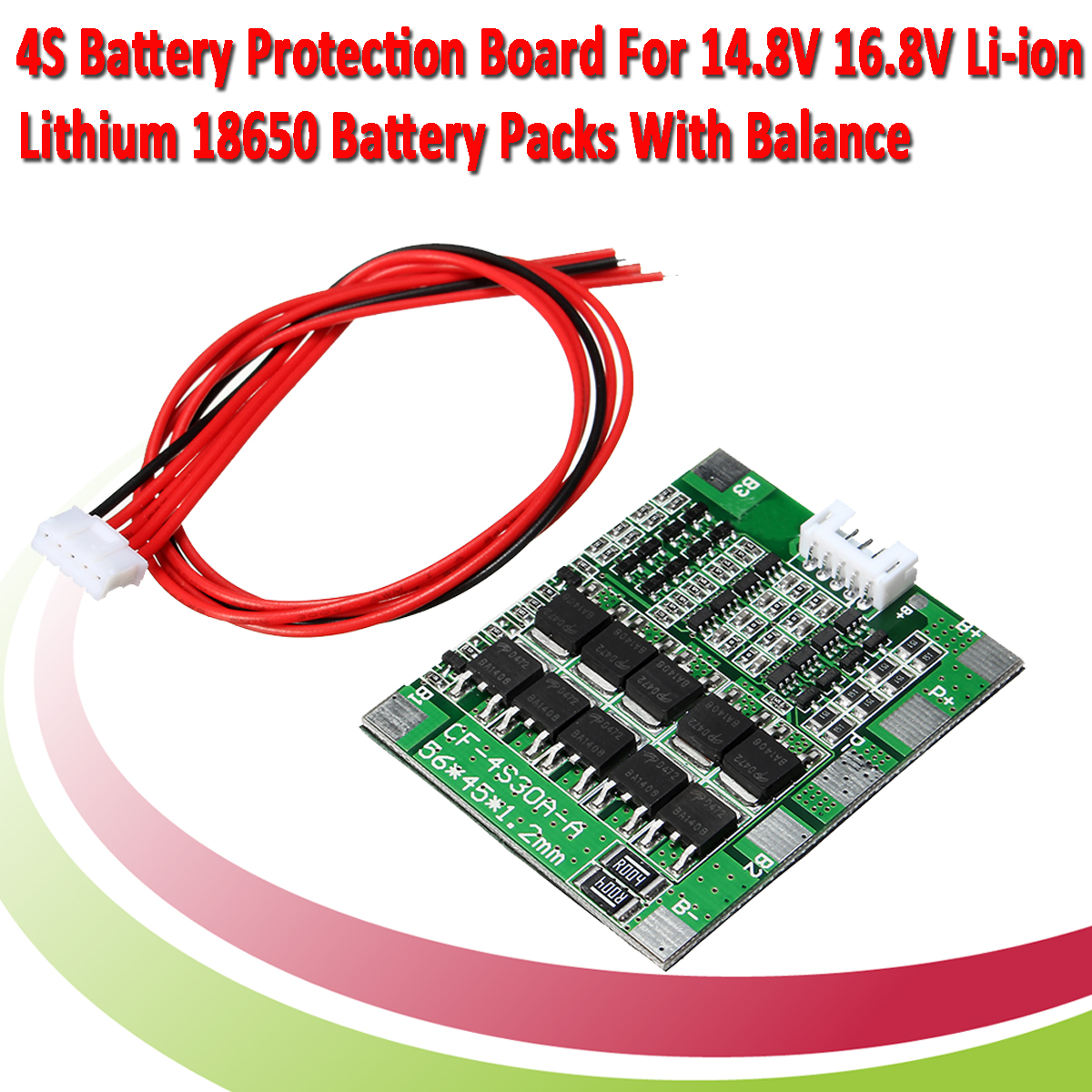 3Pcs 4S 30A 14.8V Li-ion Lithium 18650 Battery BMS Packs PCB Protection Board Balance