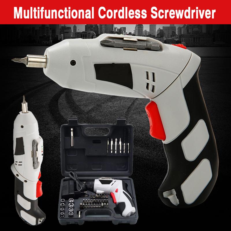4.8V Multi-Function Electric Screwdriver Portable Charging W/ 44pcs Screws Power Tool Set