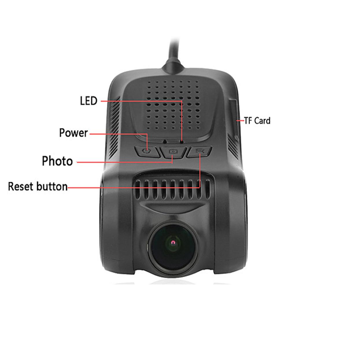 RS301 Video Recorder 1080P Car DVR Hidden Camera Hotspot G-Sensor Night Vision