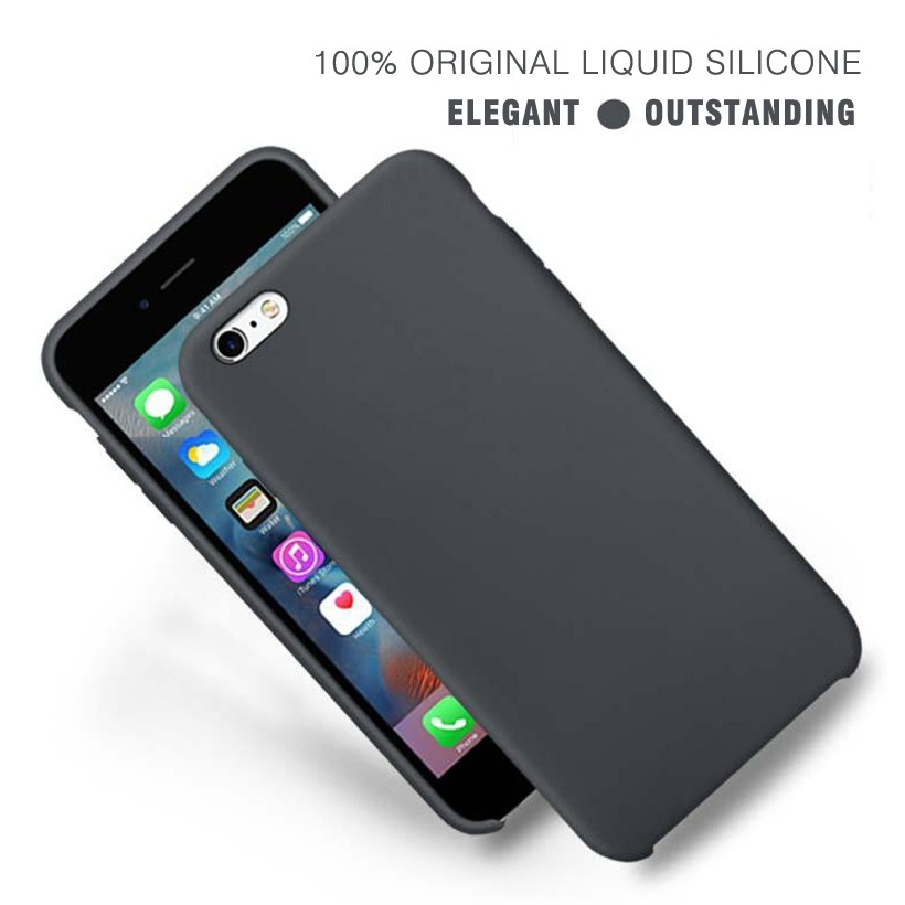 Bakeey Liquid Silicone Soft Back Case Microfiber Cushion Protective Cover Phone Case for iPhone 6/6s