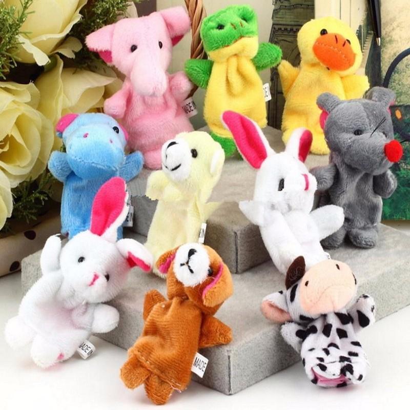 10X Farm Zoo Animal Finger Puppets Toys Boys Girls Party Toys