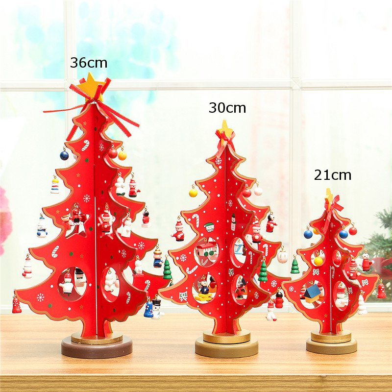 3D Wooden Christmas Tree Table Decoration Hanging Ornament