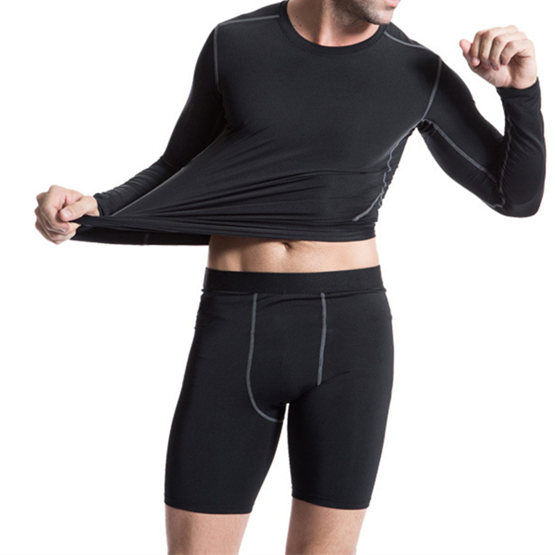 Men's Sports GYM Compression Wear Under Base Layer Athletic Tights Shorts Pants