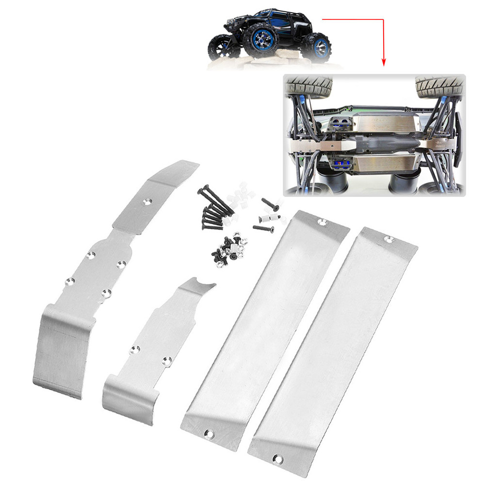Stainless Steel Skid Plate Armor Center Chassis Protector for TRAXXAS Summit E-REVO 1:10 RC Car Part - Photo: 2