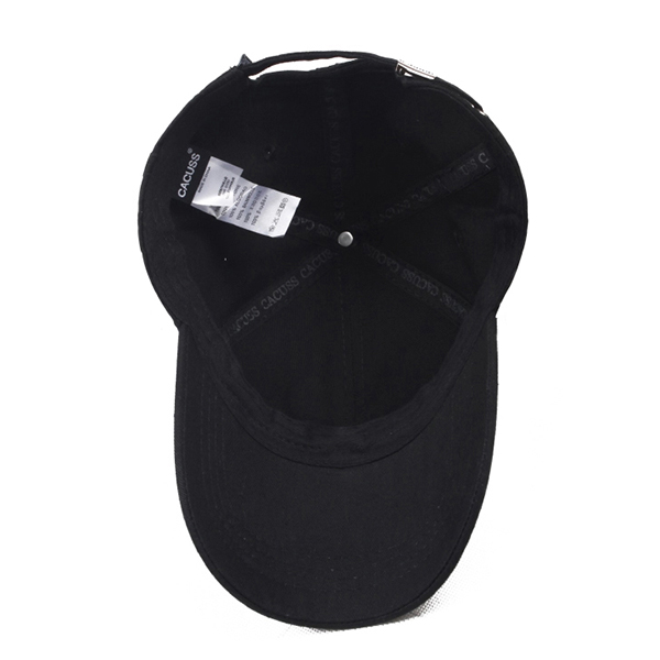 Mens Metal Label Cotton Baseball Caps Summer Snapback Cap Adjustable Sun Hat
