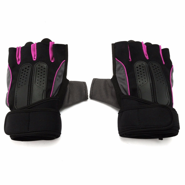 L Size Lifting Fitness Outdoor Sports Working Half Finger Gloves Motorcycle Bicycle Cycling