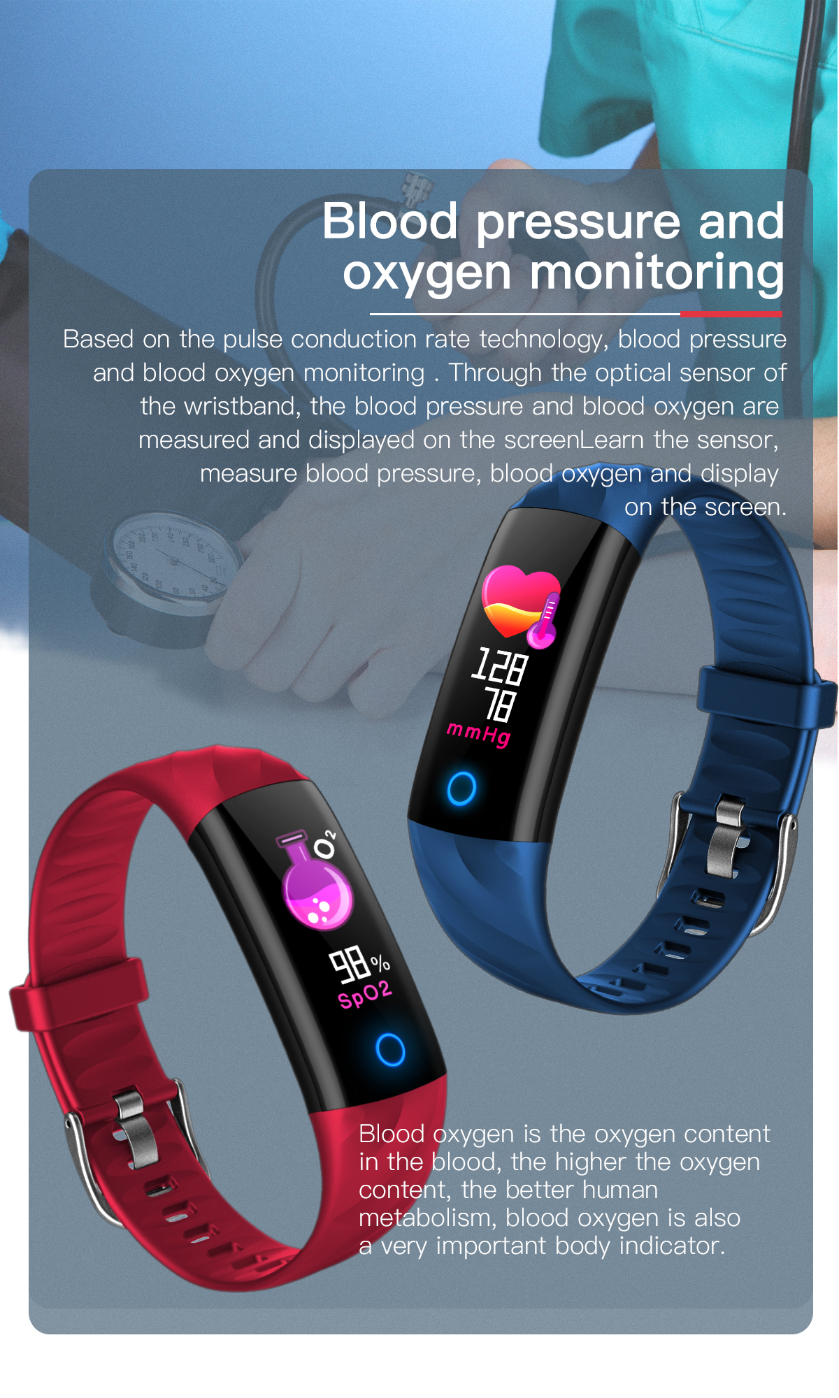 Goral S5 Stylish Design Color Display Smart Watch Visible Messages Remind Smart Breathing Lamp Watch