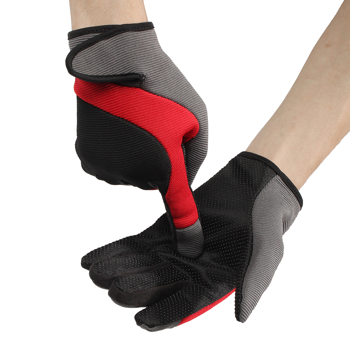 Men Male Nylon Fiber Thread Driving Gloves Full Fingers Thick Skidproof Outdoor Cycling Mittens