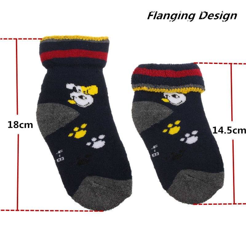 10 Pais Baby Child Cotton Socks Thicken Stockings Toddler Slipper Anti Slip Warm Winter