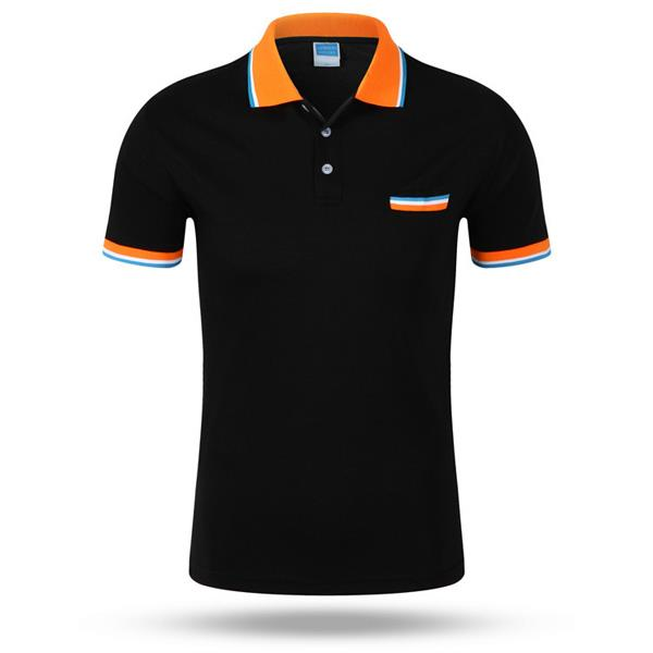 Mens Contrast Color Casual Tees Sports Jerseys Golf Shirt