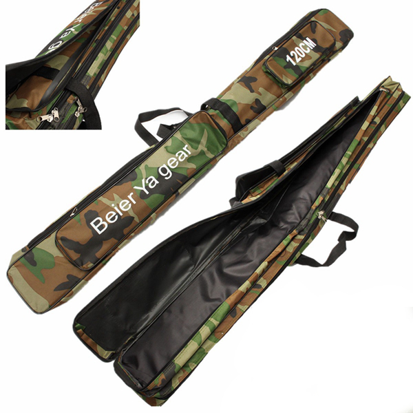 120cm Camouflage Carp Fishing Rod Tackle Bag Case Padde