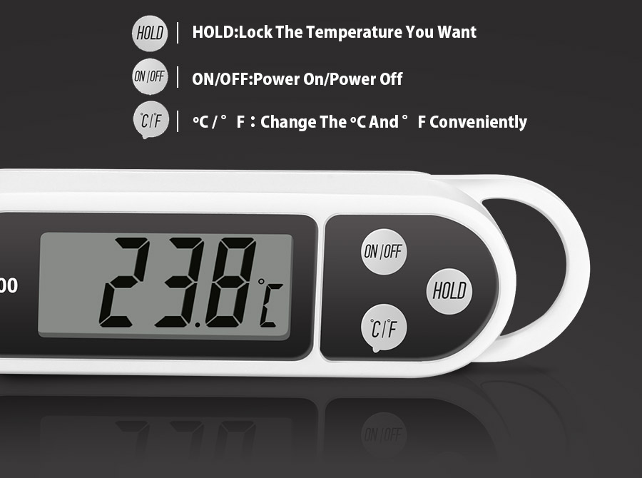 Honana HN-TH1500 Multi-unit Conversion Digital Kitchen Pen Shape BBQ Cooking Food Thermometer
