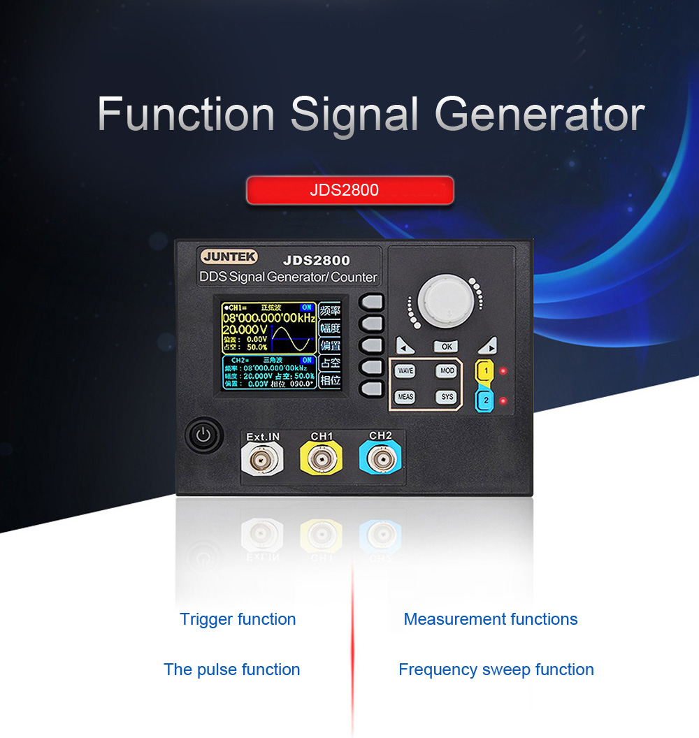 Jds2800 15mhz 40mhz 60mhz Signal Generator Digital Control Dual Pulse Frequency By Ic Shipping Methods