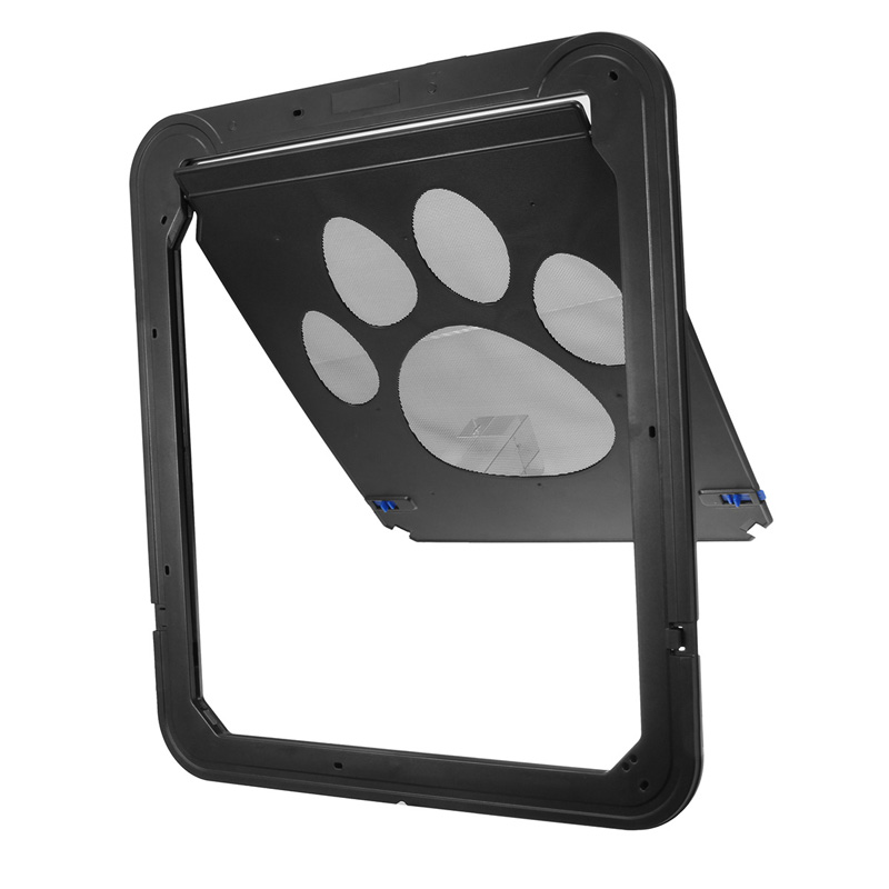 37x42cm Large Medium Dog Cat Pet Door Screen Window ABS Magnetic Auto Lock Flaps