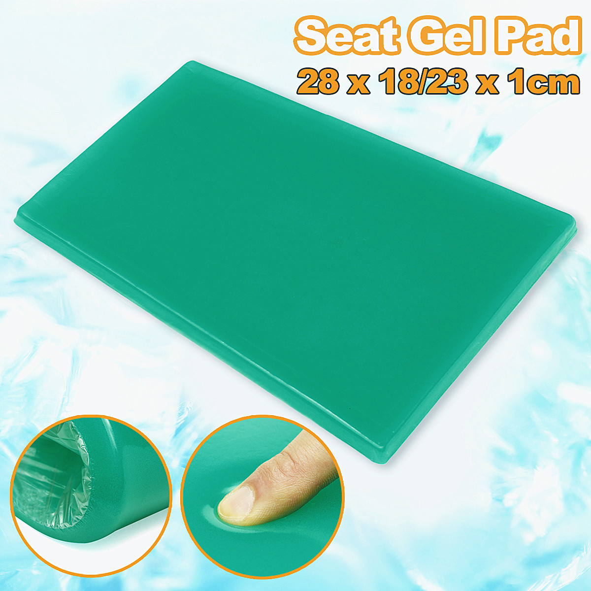 Gel Seat Cushion Pad Green Trapezoidal Cool For Motorcycle Sofa Chair Home Office