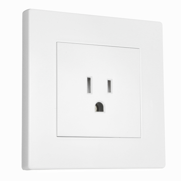 15A Wall Socket 3Pin Electric Power Outlet Panel Plate Wall Charger Power Socket US Plug