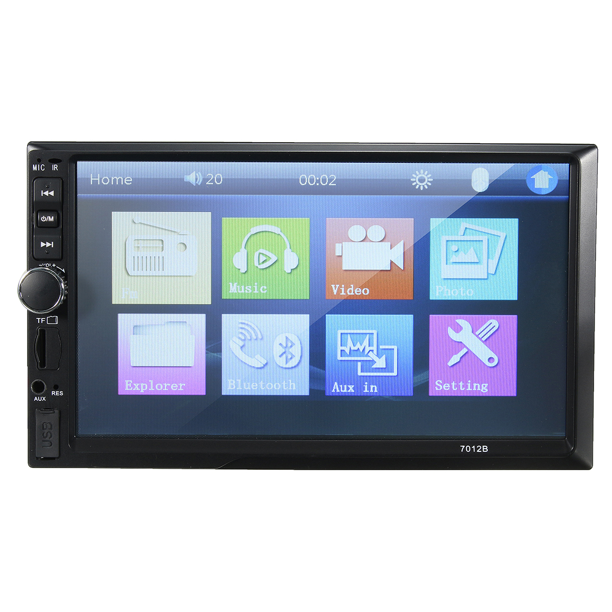 7012B 7 Inch Double DIN Car MP5 Player Radio Stereo bluetooth MP4 FM Touch Screen Support Rear Camera