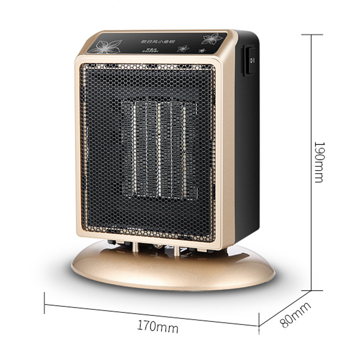 110V 500W Home Heater Fan Adjustable Air Conditioner Portable Office Air Warmer