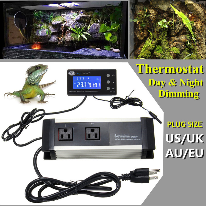 LED Reptile Timer Aquarium Digital Temperature Controller Heat Thermostat PID with Timer