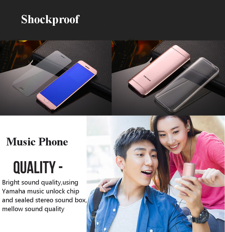 Ulcool V26 1.54 Inch 500mAh MP3 FM Anti Lost bluetooth Dialer Music Dual SIM Mini Card Phone