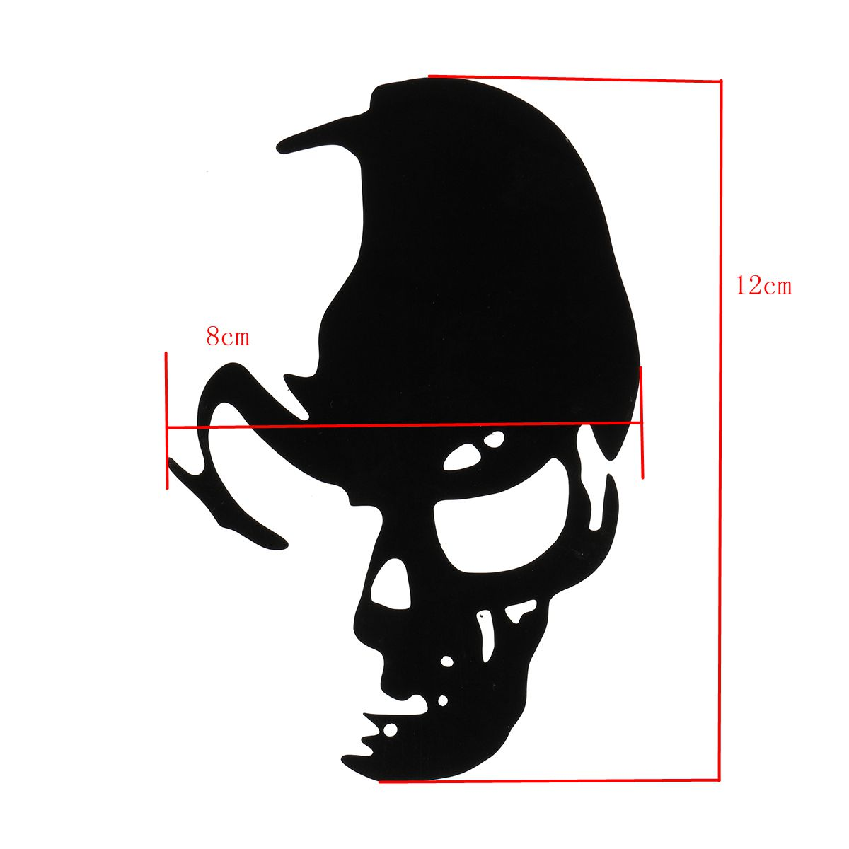 Car Skull Sticker Decal Window Truck Bumperr Styling Reflective Waterproof