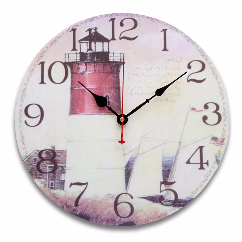 Wooden Digital Wall Clock Vintage Rustic Shabby Quartz Movement For Kitchen Decor Gifts