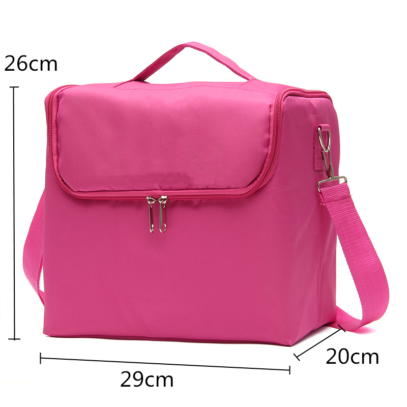 Portable Cloth Makeup Box Double Open Large Multi-storey Cosmetic Bag Brushes Container