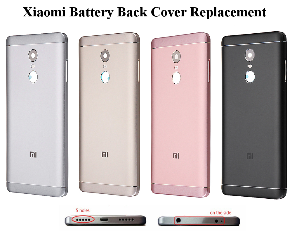 Bakeey Back Battery Cover Replacement With Button Lens Protective Case For Xiaomi Redmi Note 4X