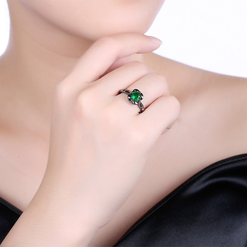 INALIS Flower Shiny Zircon Women's Finger Ring Wholesale for Women Jewelry