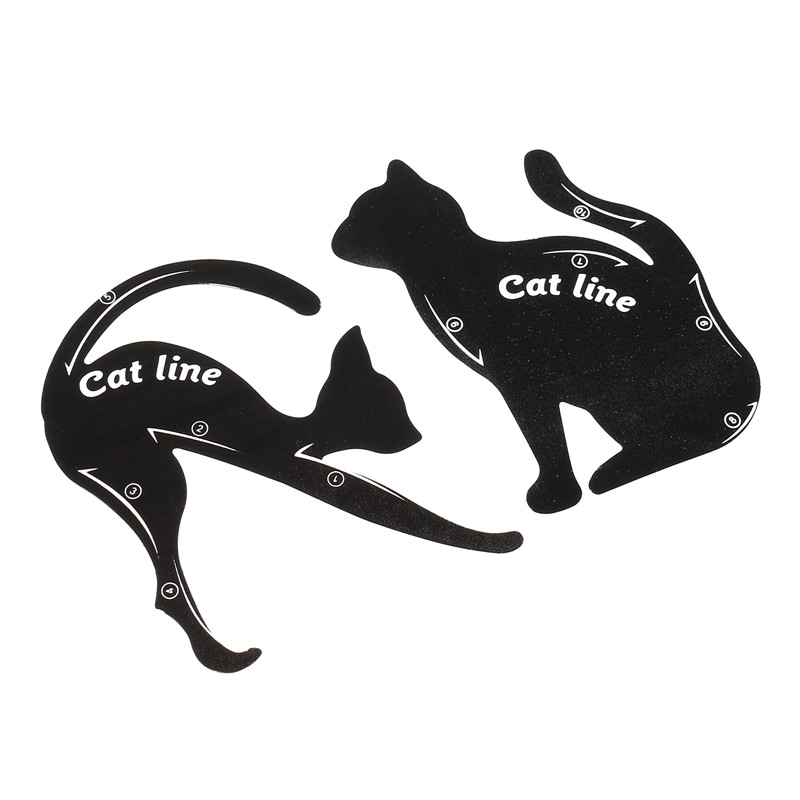 Cat-shaped Eyeliner Stencil Eyes Liner Stencil Models Eye Shadow Template Shaper Makeup Tool