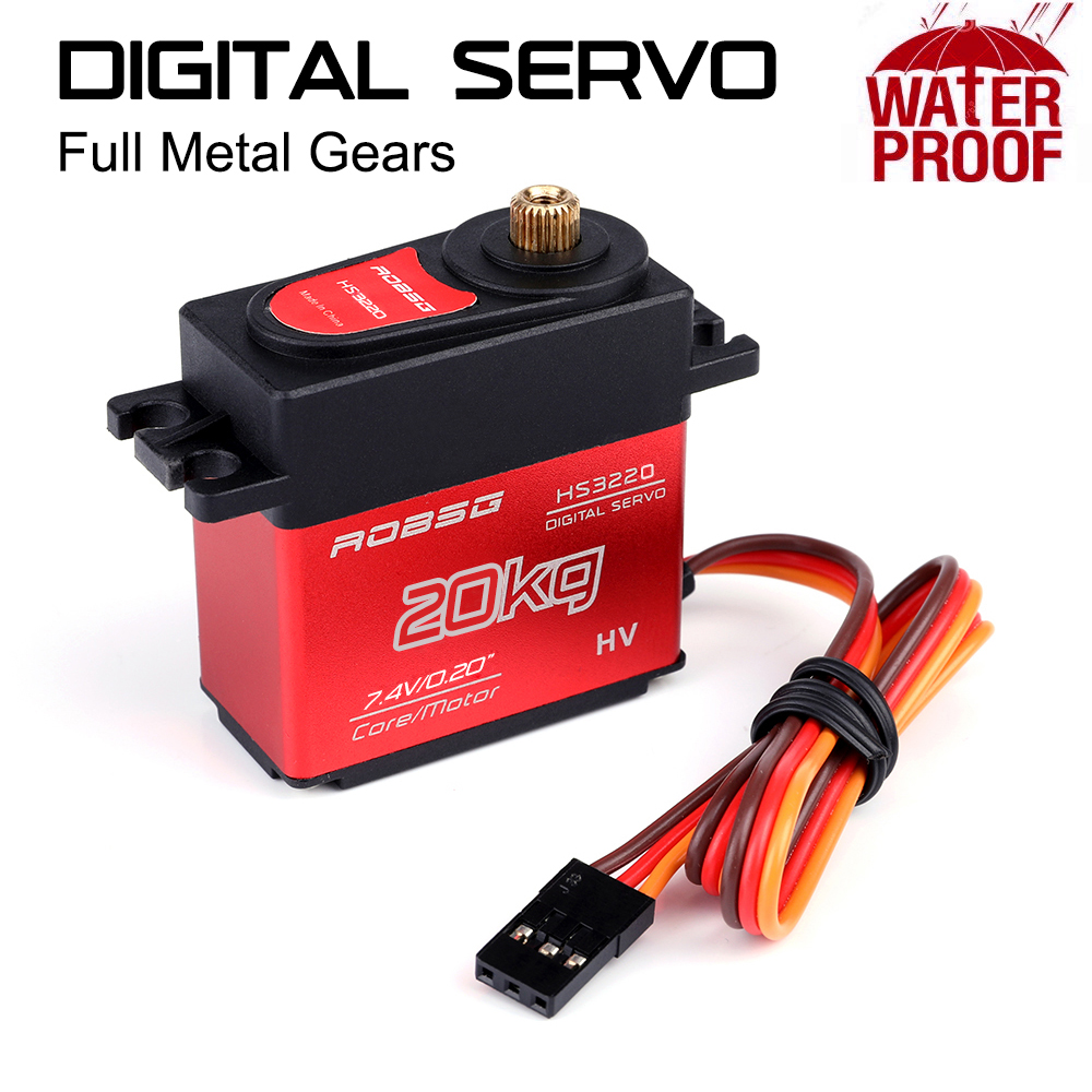 ROBSG HS3220 20KG Coreless Waterproof Metal Gear Digtial Servo For RC Models - Photo: 3