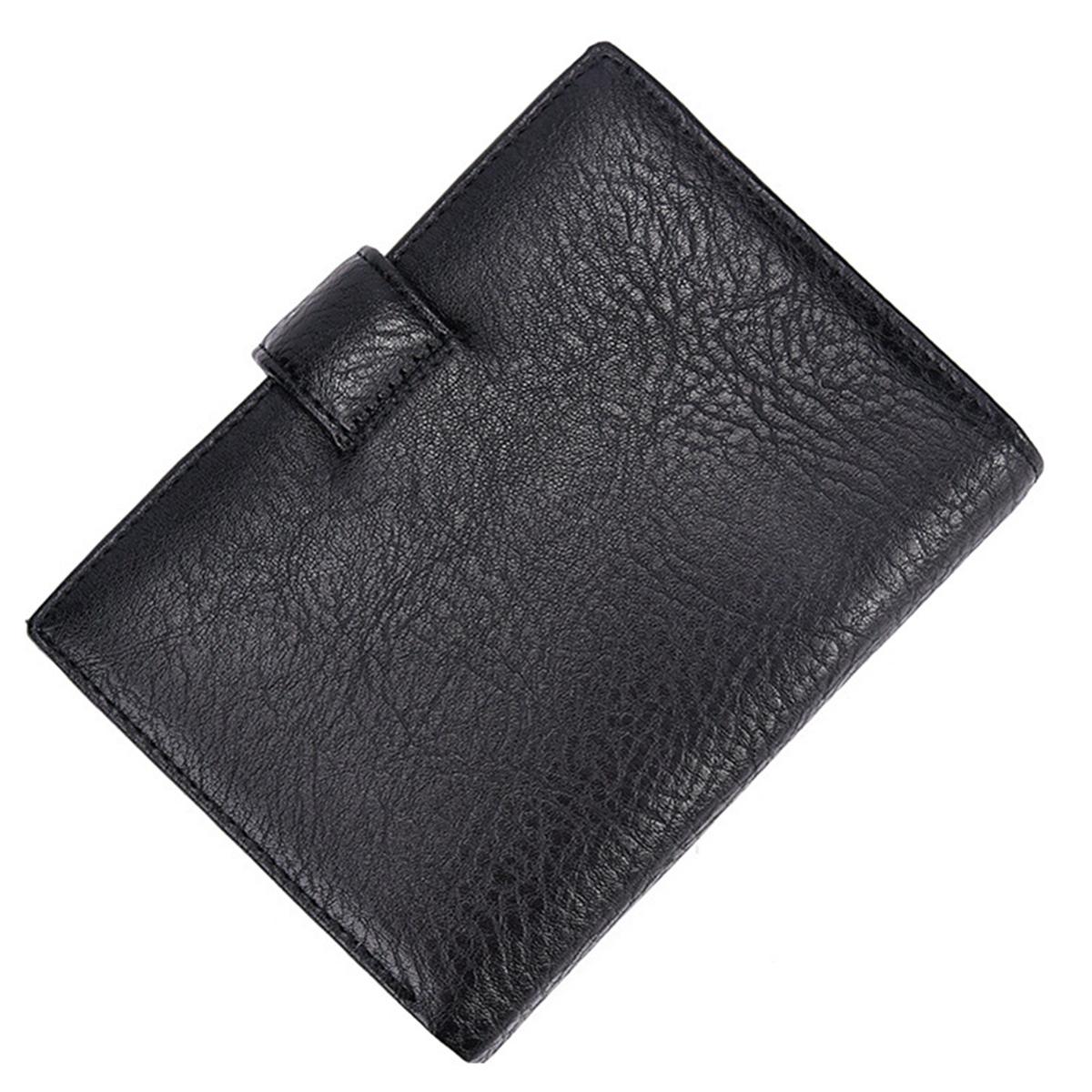 Men RFID Blocking PU Leather Wallet Passport Card Holder Money Coin Purse